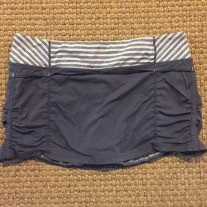Lululemon 10 Gray Studio Skort w/ Shorts in Skirt